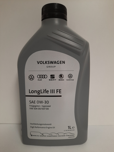 VOLKSWAGEN ORIGINAL LONG LIFE III (VW 504 00, 507) 0W30 1L