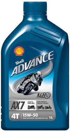 SHELL ADVANCE 4T AX7 15W50 1L