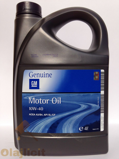 OPEL-GM MOTOR OIL 10W40 4L